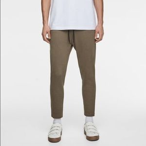 Zara Men's XL Premium Cropped Jogger Pants